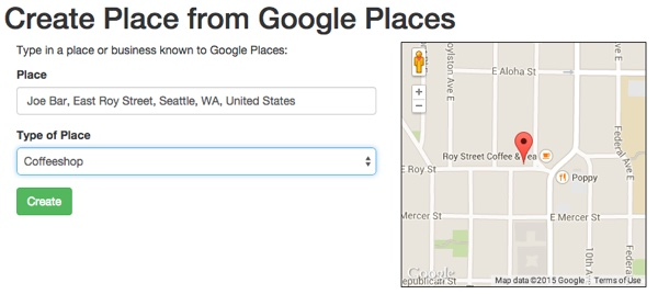 Using Google Places and Google Maps with Yii2