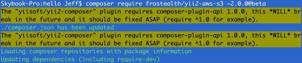 """yiisoft/yii2-composer"" plugin"